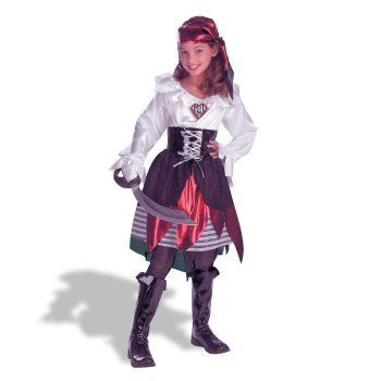 Girl Pirate Costume. The detail in the skirt is very pretty. Teen girls will really like this one.