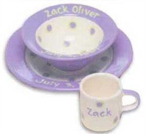 Personalized Baby Dot Dishware - Cornflower Blue Cup Bowl u0026 Plate Set -   sc 1 st  Pinterest & Personalized Baby Dot Dishware - Cornflower Blue Cup Bowl u0026 Plate ...