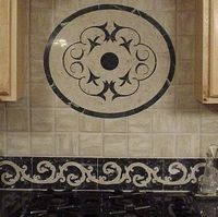 Corina Floor Medallion and Italiano tile Borders