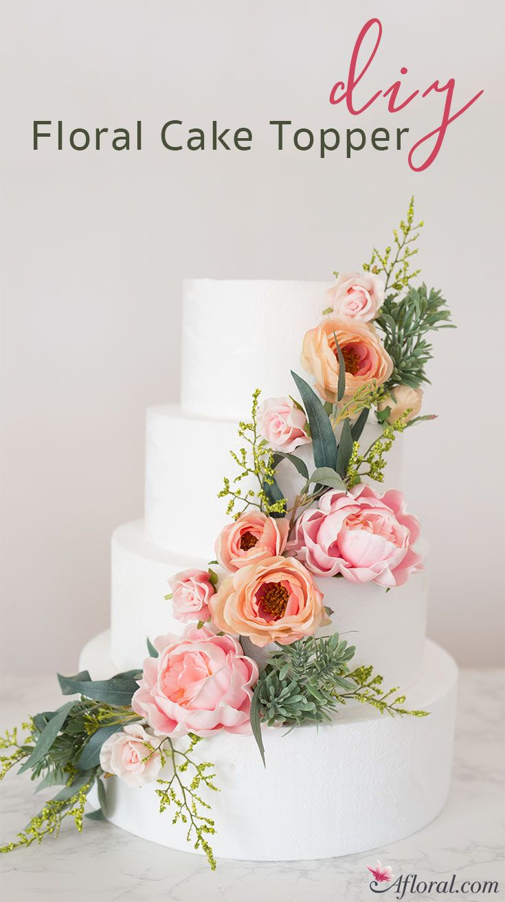 How To Make A Floral Cake Topper | Floral cake, Floral and Cake