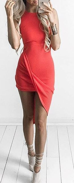 cute outfit idea: dress + heels