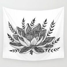 Lotus Flower Wall Tapestry Dorm Room Dorm Tapestry Bedroom