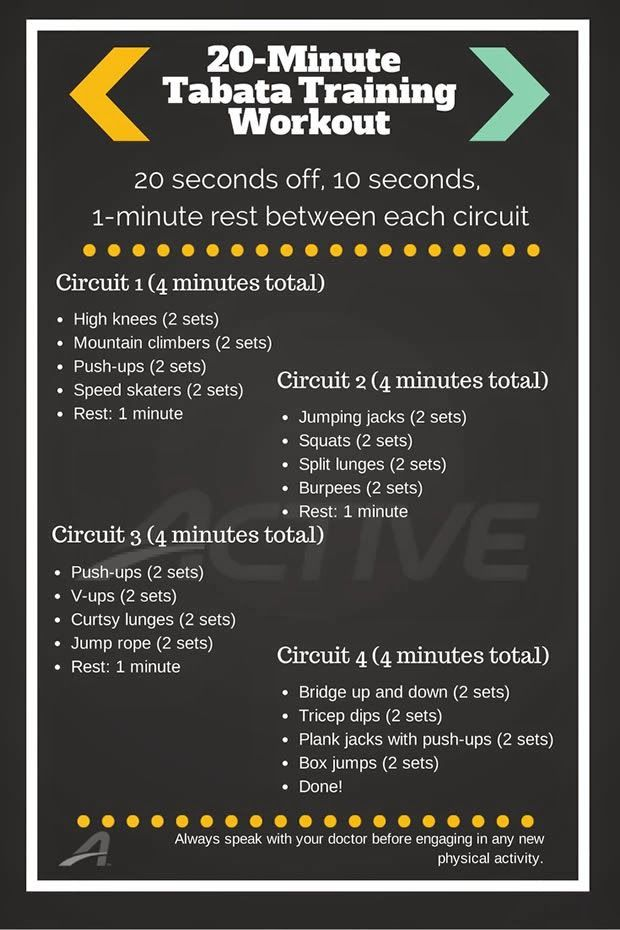 time to get fit! 20 minute circuit training workout crossfit