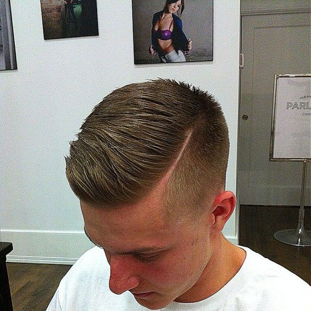 Comb Over Hard Part Mens Hairstyles Short Side Part
