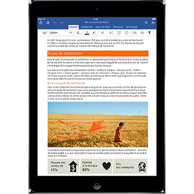 Une nouvelle génération d'applications Office sur votre iPad