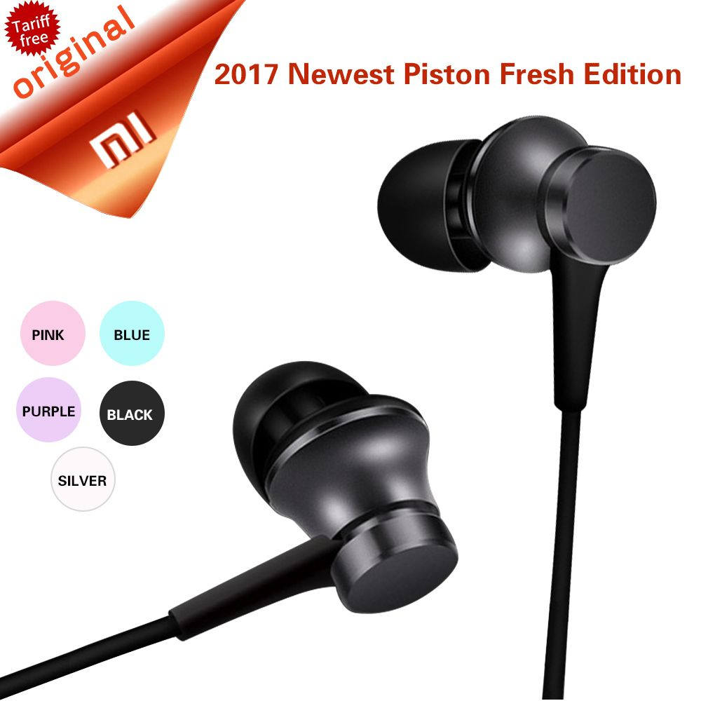 Original Xiaomi Mi Piston Fresh Earphone Newest Edition 4 Hybrid Dual Drivers Earphones Version In Stock With Mic For Samsung Price 944 Shop