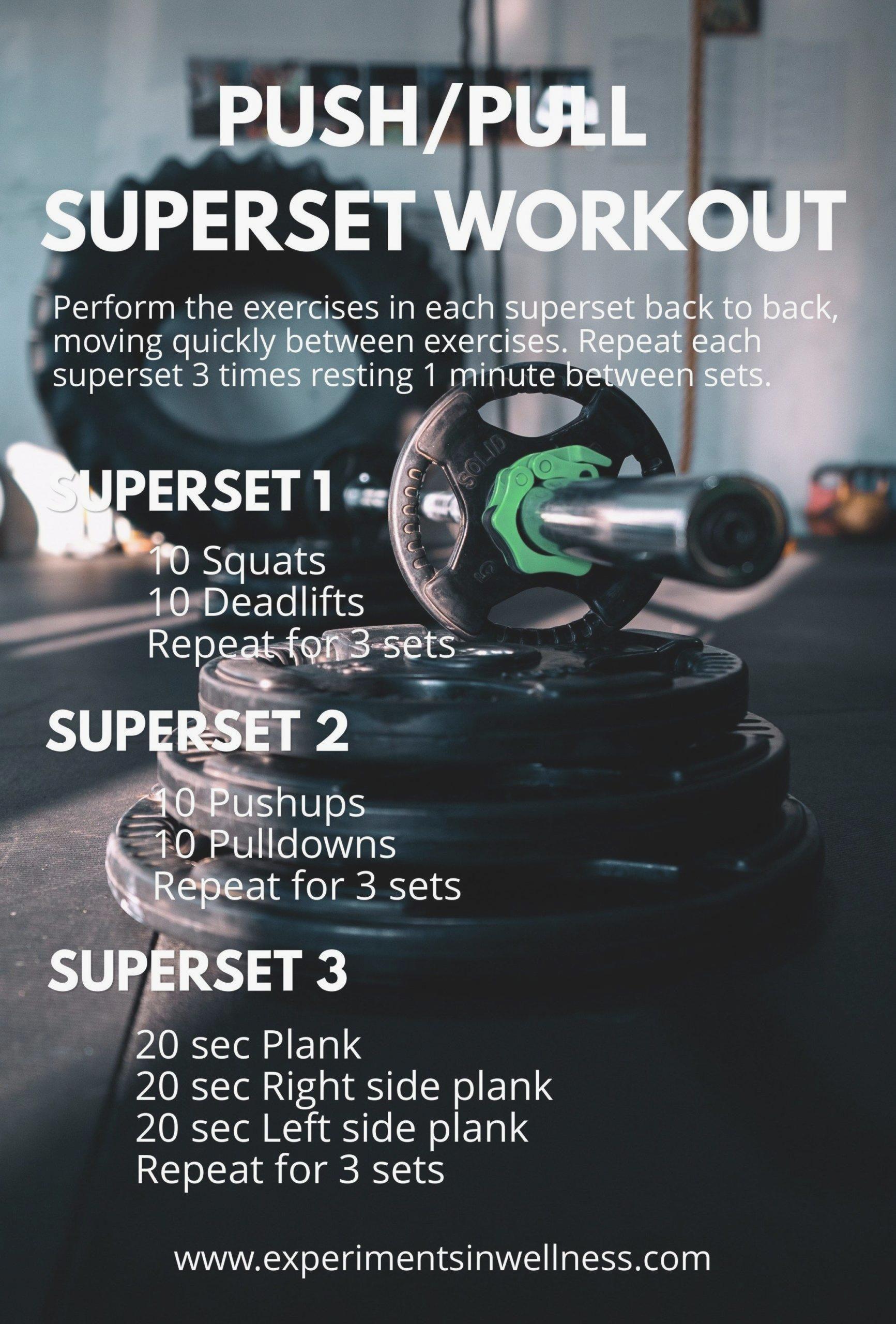 Superset Workout Drucken Ziehen Experimente Im Wellness Fullbodyworkout Workout Fitness Und Ubungen Workout Fitnessubungen