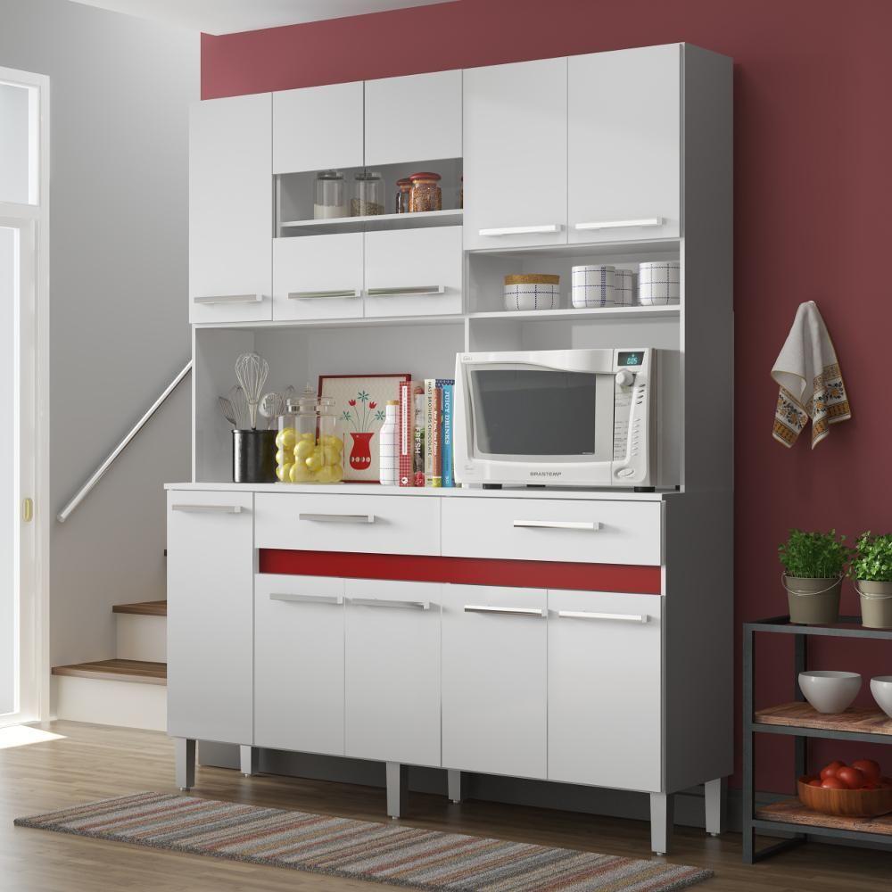 Kit Cozinha Decibal Ac1020 10 Portas 2 Americanas Com Decor
