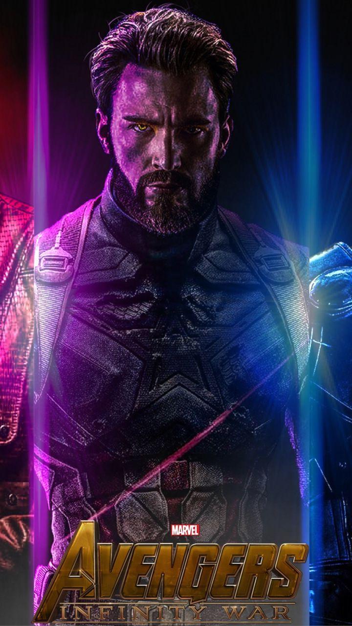 avengers: infinity war, star-lord, captain america, thor, 720x1280