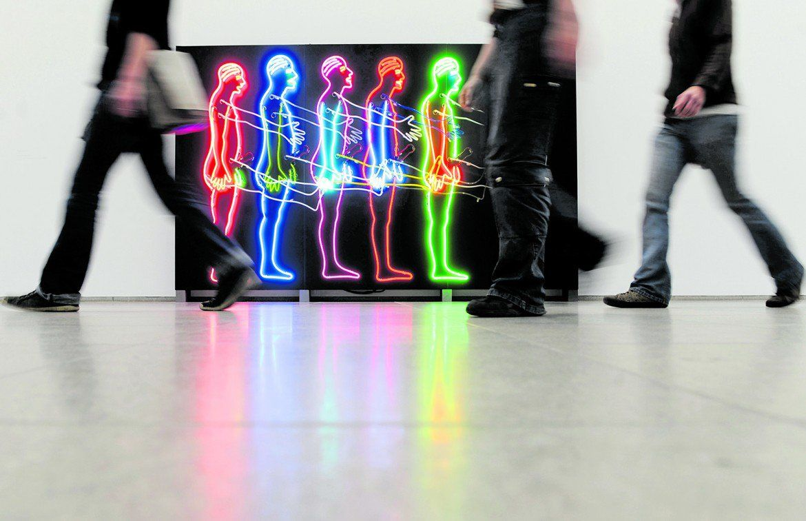 «Five Marching Man» di Bruce Nauman