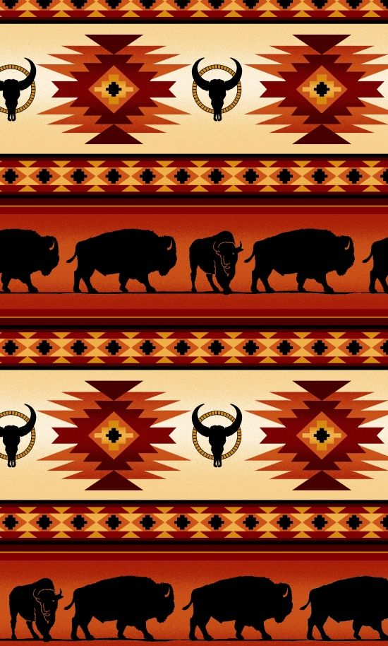Shop | Category: Native Prints | Product: Terracotta Buffalo Stripe