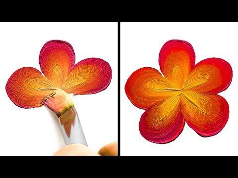 10 lovely onestroke painting ideas  youtube  one stroke