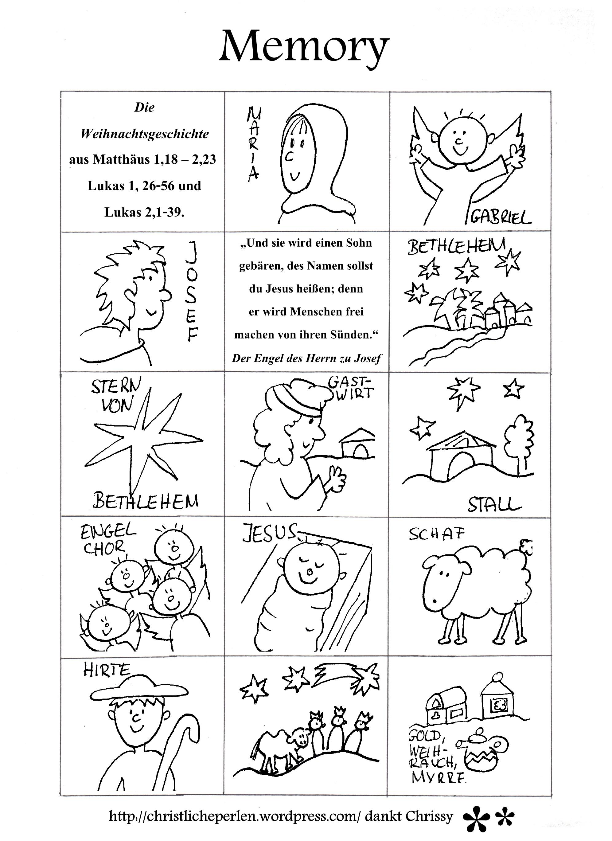 Weihnachtsmemory Basteln Weihnachtsgeschichte Kindergarten Weihnachtsgeschichte Kinder Bibelgeschichten Basteln