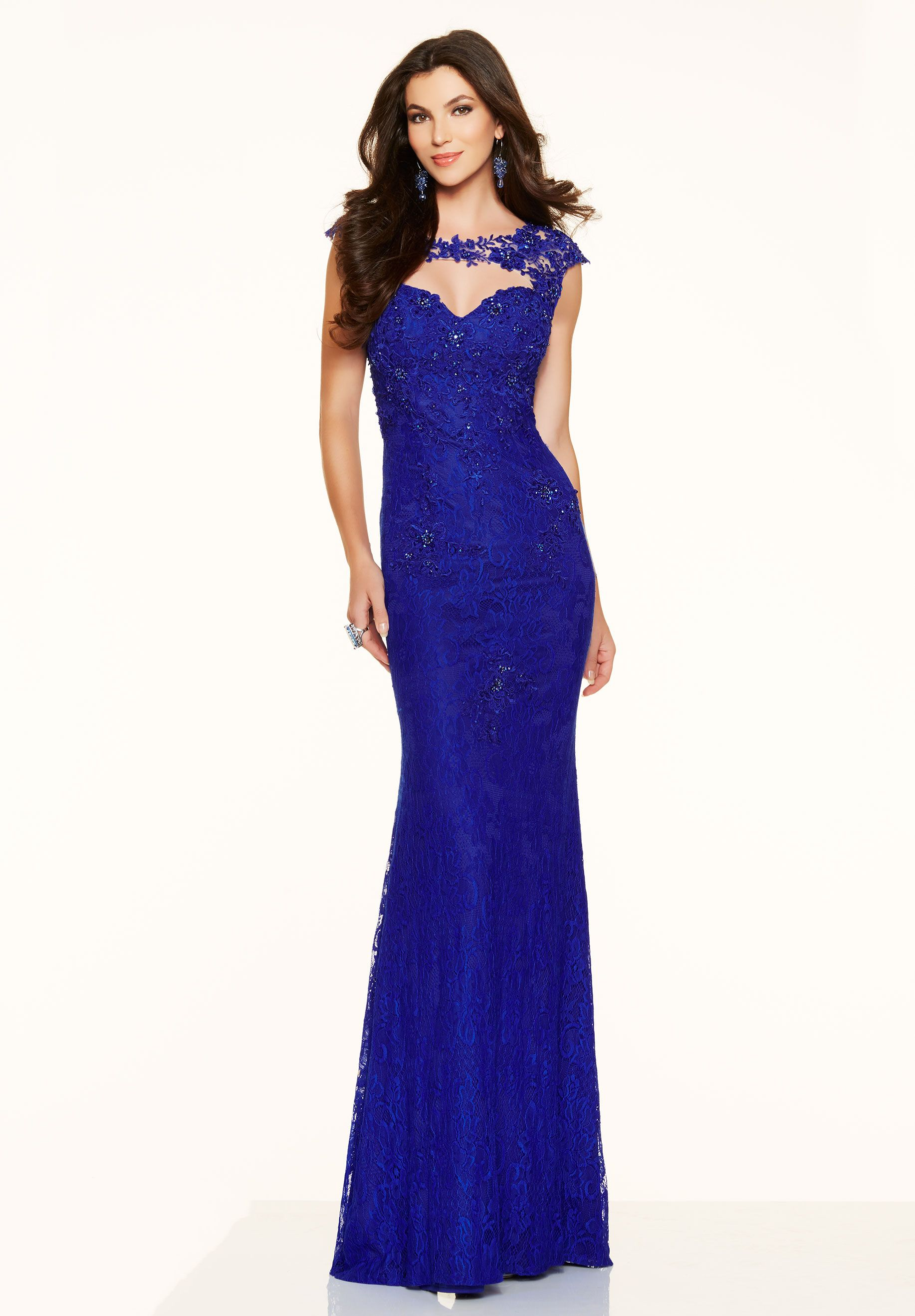 Royal+Blue+Illusion+Lace+Cut+Out+Sheath+Column+Prom+Dress+Cpa0201 ...