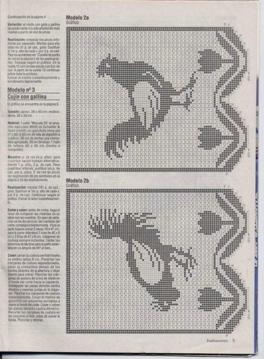 3) Gallery.ru / Foto # 16 - Filet Crochet versare Point de Croix 2 ...