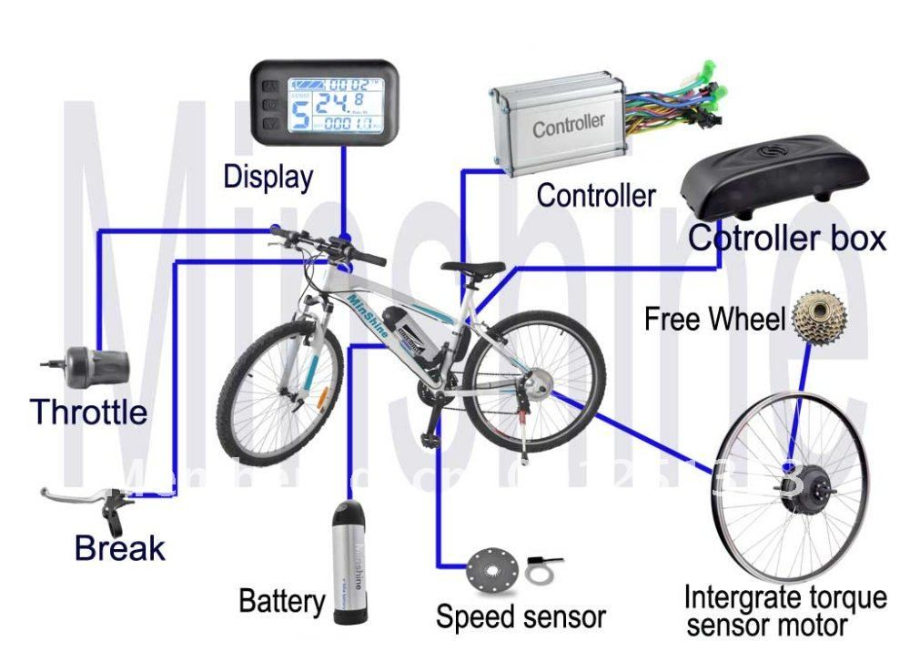 electric bike controller wiring diagram in addition electric motor rh pinterest com