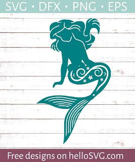 Mermaid & Sea Themed FREE svgs in 2020 Mermaid svg