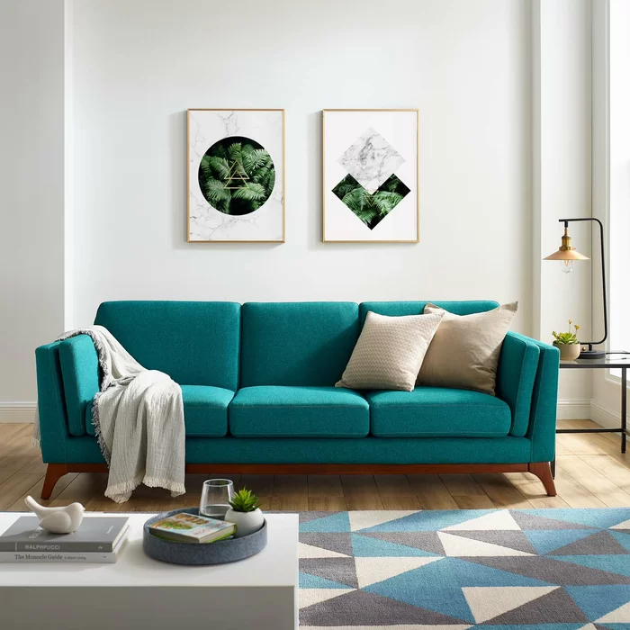 Clyde Sofa Reviews Allmodern In 2020 Teal Couch Living Room Teal Sofa Living Room Teal Living Rooms #turquoise #couch #living #room
