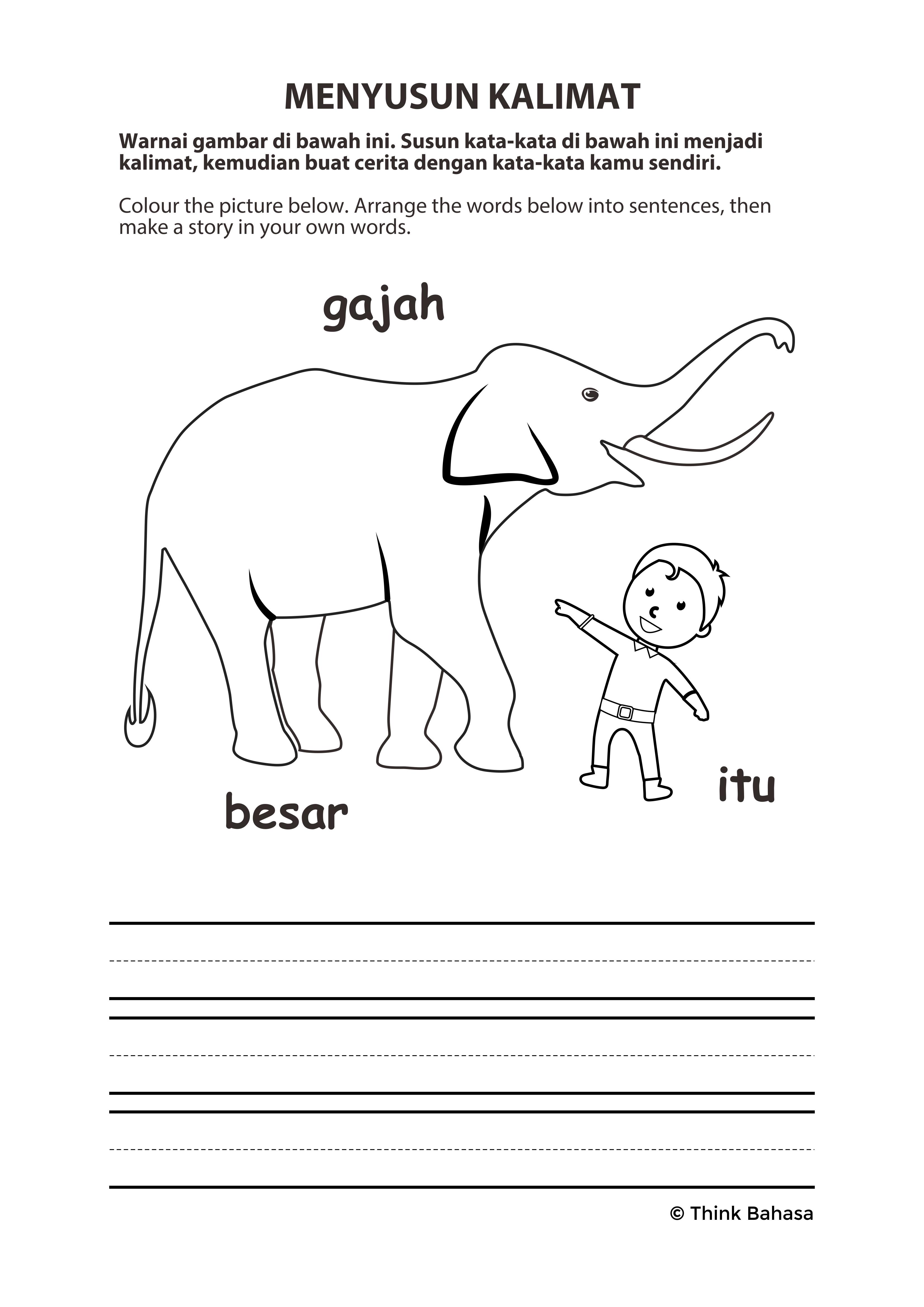 Primary Bahasa Indonesia Lote Worksheet