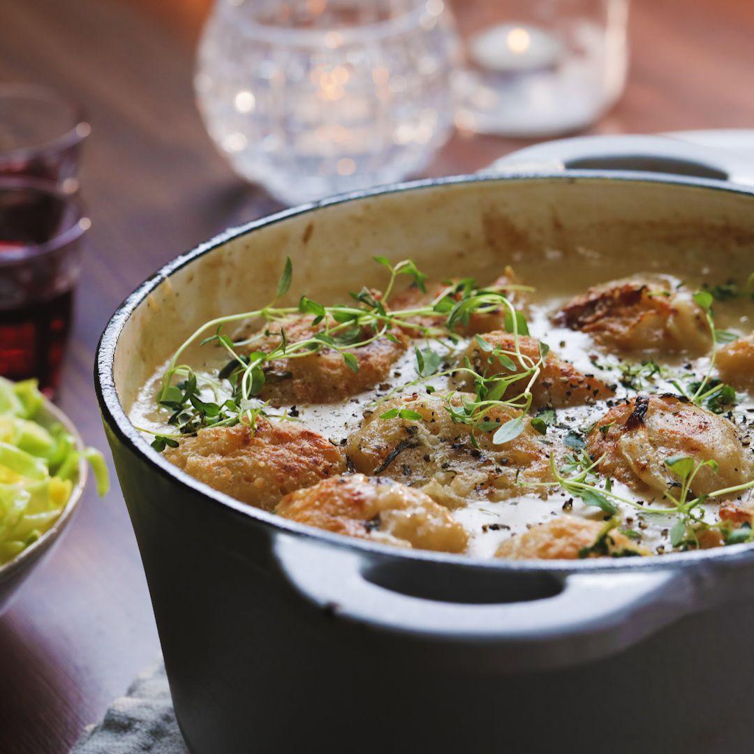 Chicken Stew & Parmesan Dumplings images