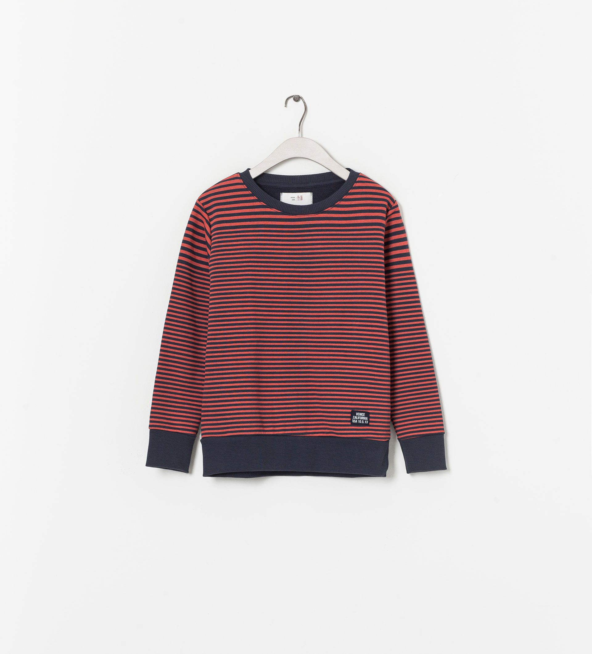 ZARA - KIDS - STRIPED SWEATER WITH ELBOW PATCHES
