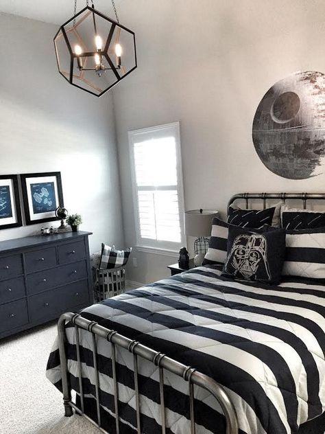 Boys Star Wars Room Boys Star Wars Bedroom Modern Design For Boys Bedroom Star Wars I Wanted To Star Wars Bedroom Boys Bedroom Themes Boys Bedroom Modern