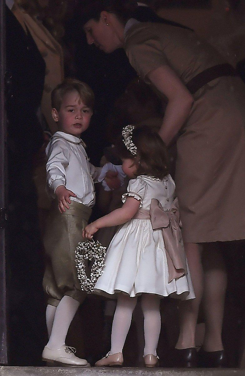 Prince George Princess Charlotte As Page Boy Flower Girl For