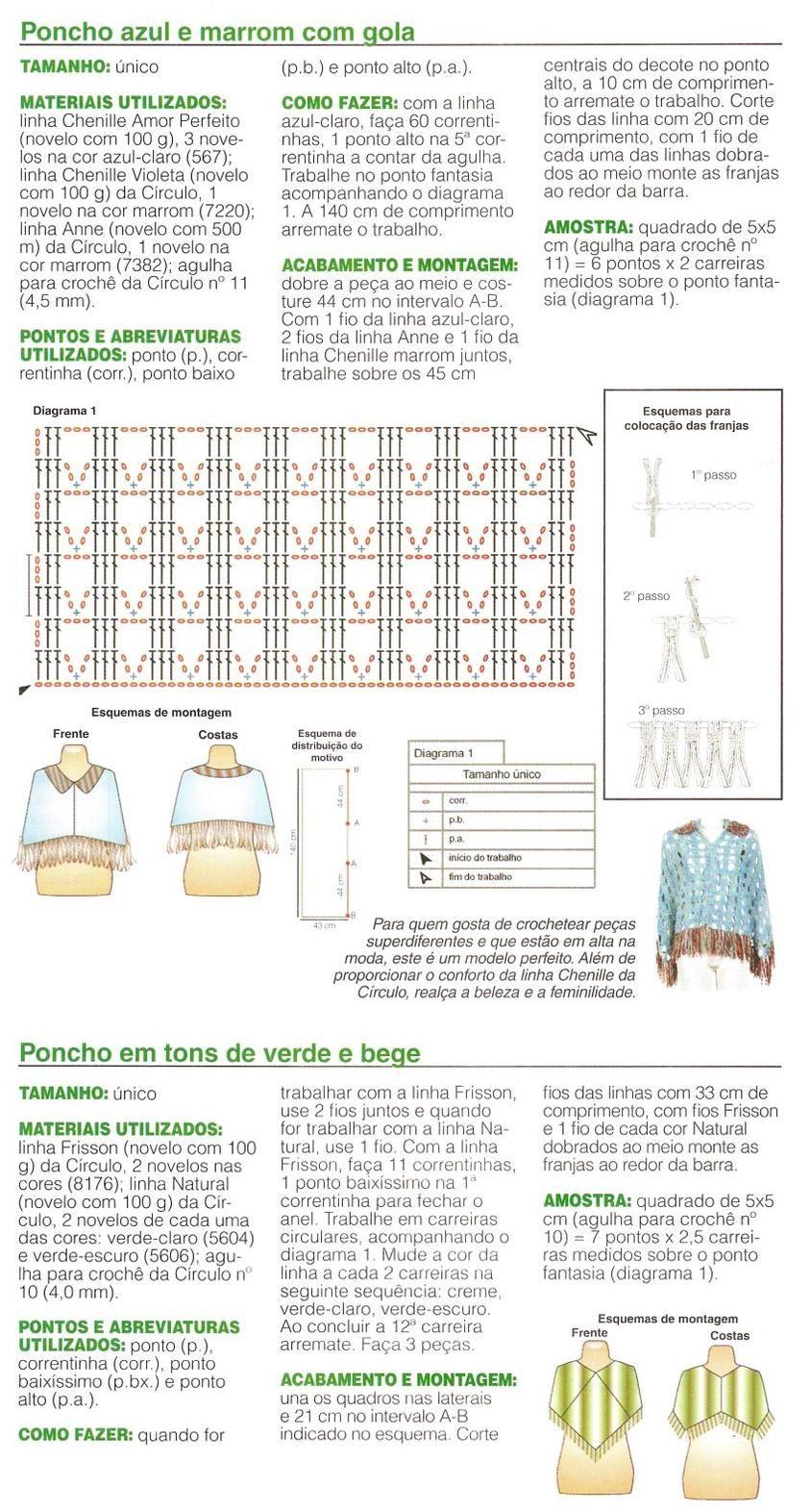 Ponchos au crochet - Le monde-creatif