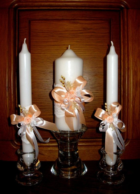 Wedding candle Tulip personalized