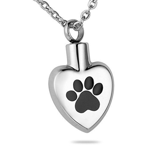 HooAMI Heart Cremation Urn Necklace for Ashes Jewellery Keepsake Memorial Pendant VAn6F