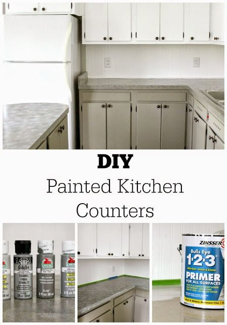 DIY Painted Kitchen Counters