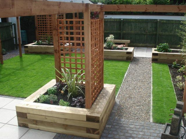 Sleepers in gardens google search garden pinterest for Garden designs with railway sleepers