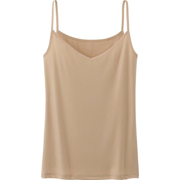 UNIQLO Women Airism Camisole ($9.90) ❤ liked on Polyvore featuring intimates, camis, tops, tanks, tank tops, slimming cami, layering cami, uniqlo and slimming camisole