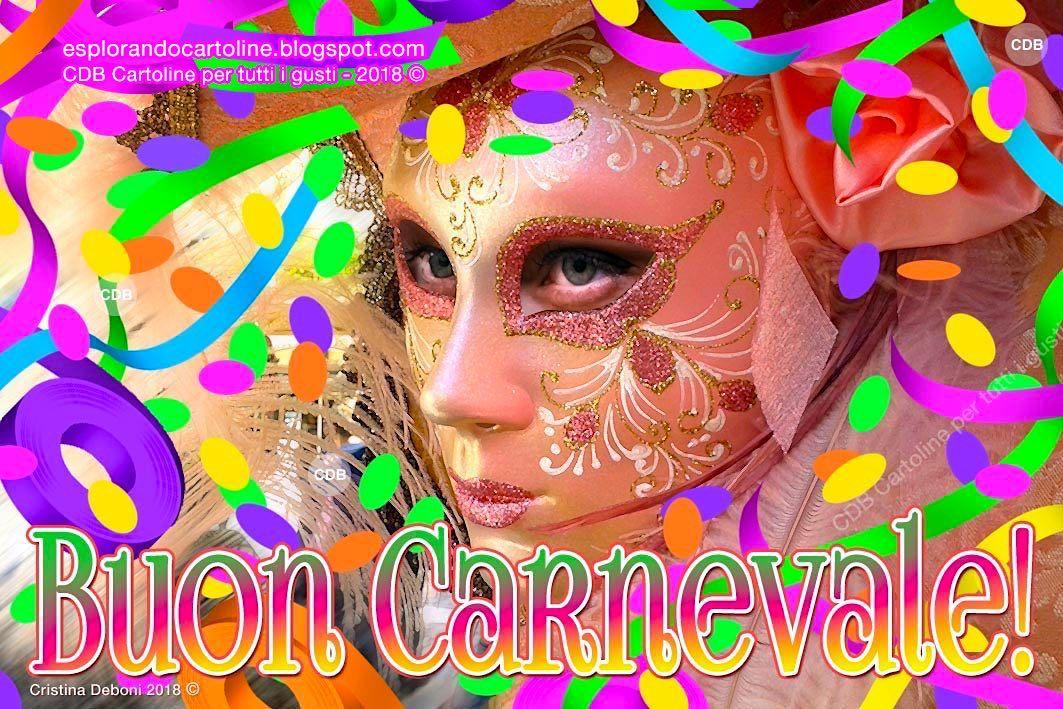 Cdb Cartoline Per Tutti I Gusti Cartolina Buon Carnevale Con