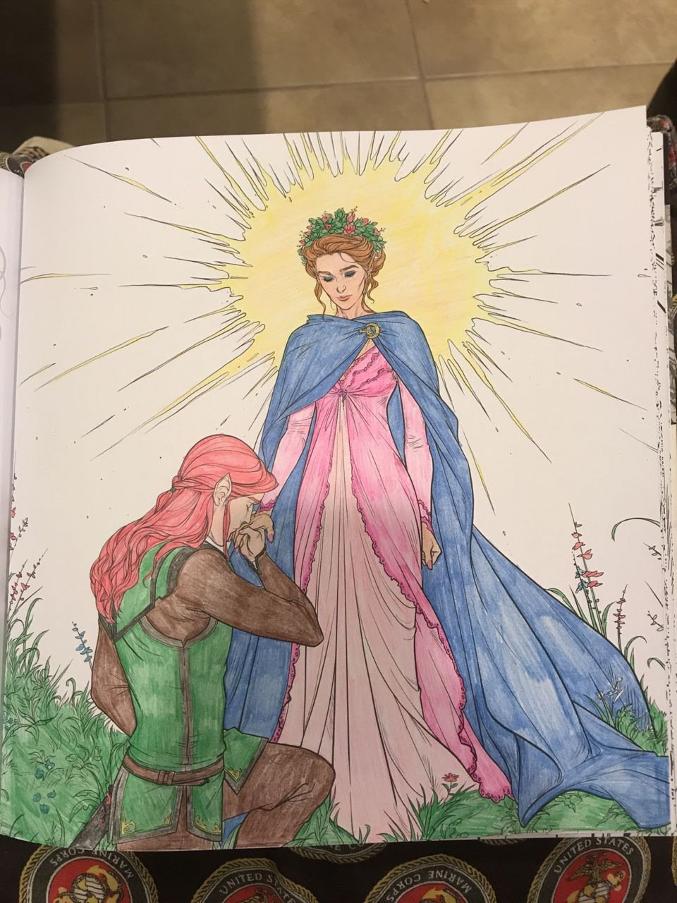 Lucien Bowing To Feyre In A Court Of Thorns And Roses Coloring