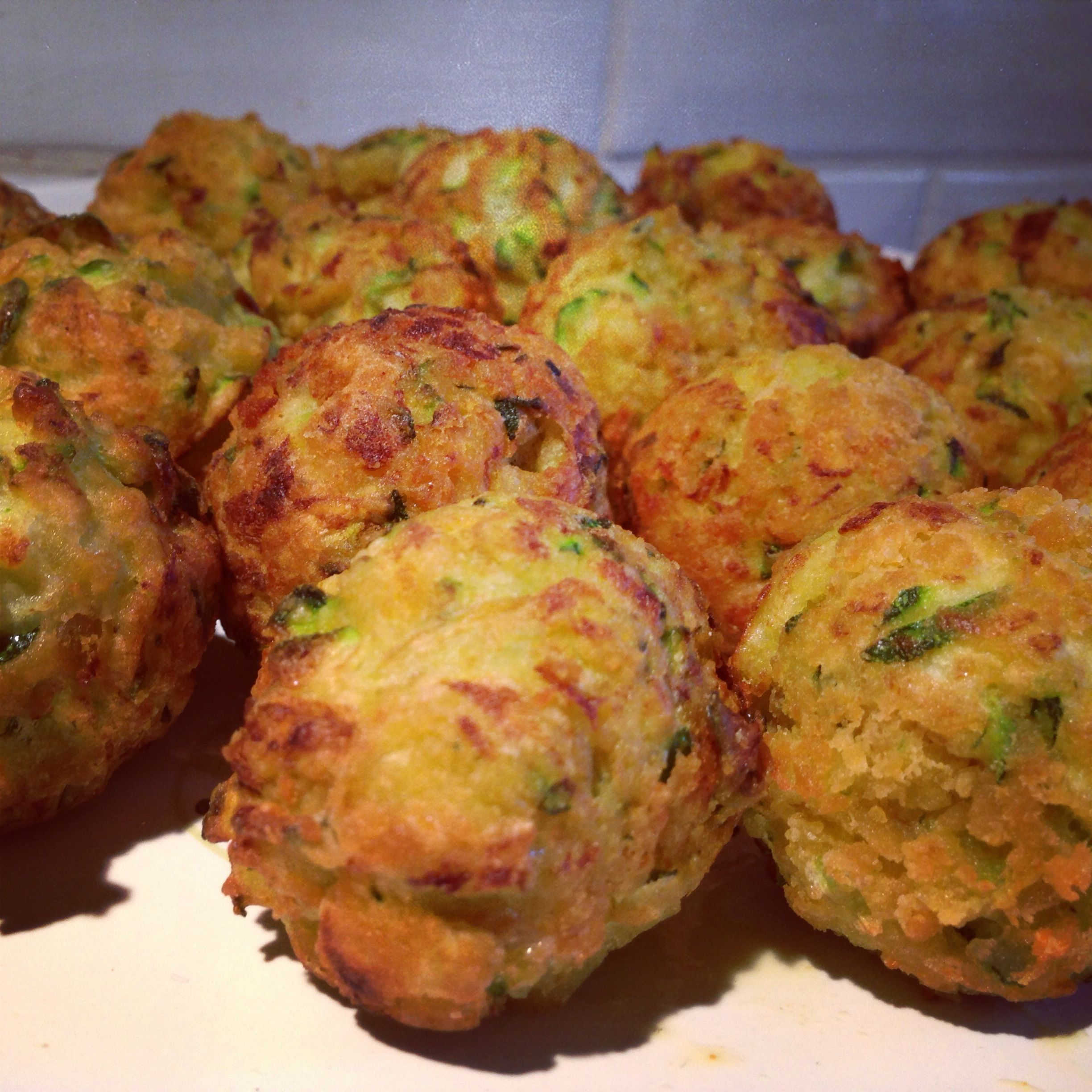 Courgette Balls! Ideal for lunch box or just quick snack!