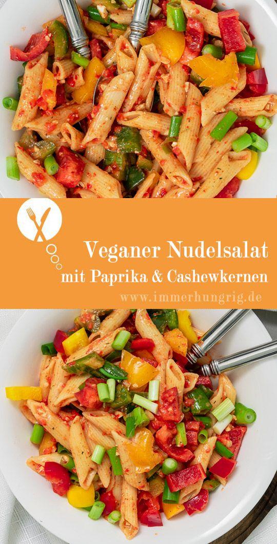 Veganer Nudelsalat Paprika
