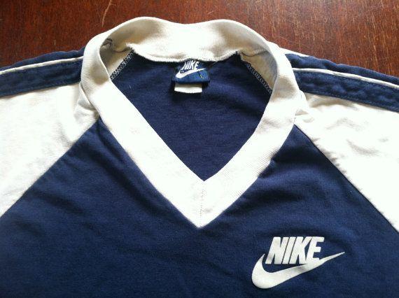 Vintage 80s NIKE Tshirt  Original Blue Tag by sweetVTGtshirt 979191076