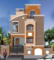 Delightful House Front Elevation Model