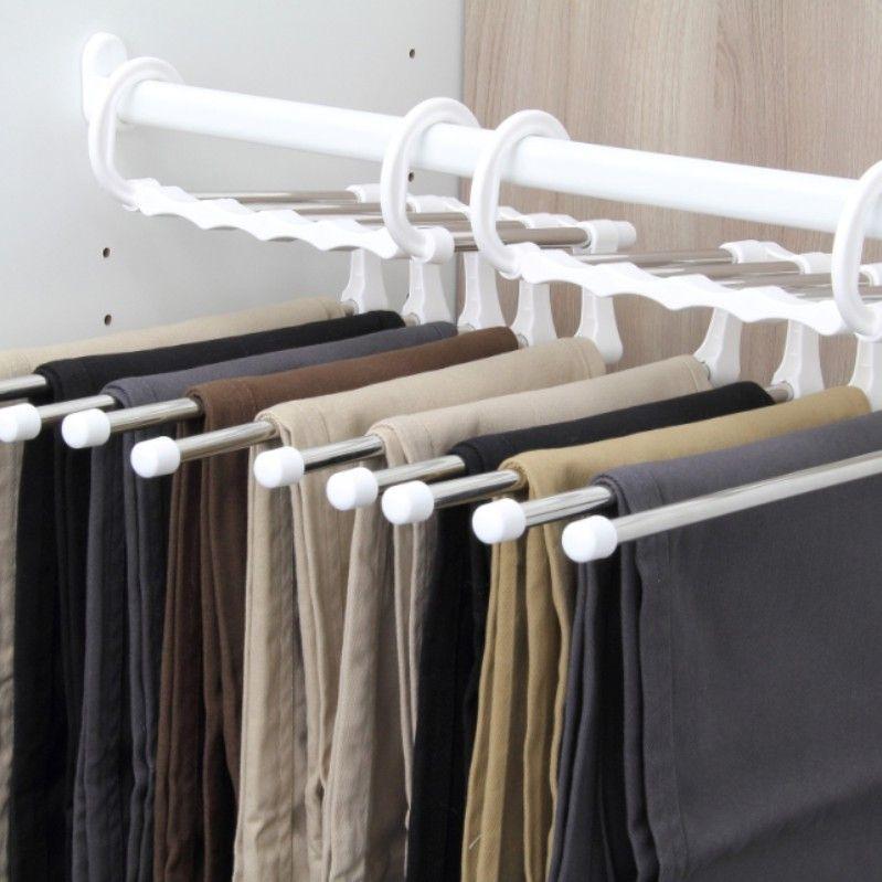 Acier Inoxydable-pantalon//jeans Cintres Vêtements Placard Organisateur de stockage