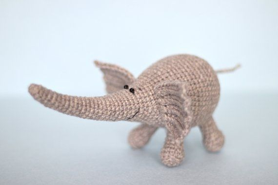 Crochet elephant Pattern , pdf tutorial , mini amigurumi patterns #crochetelephantpattern