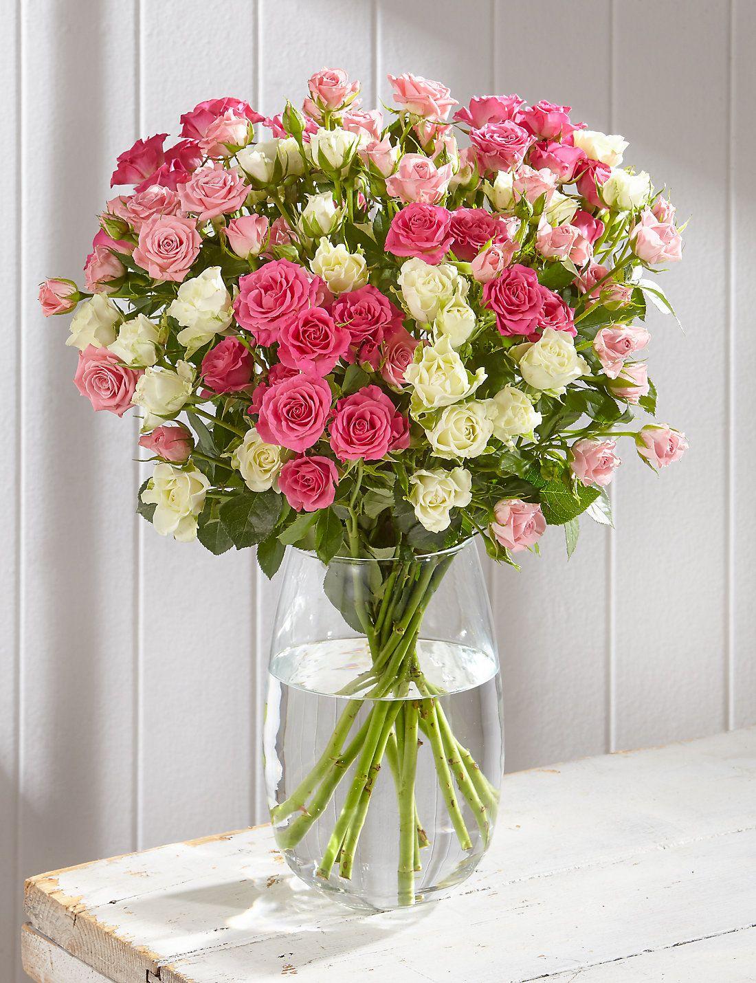 Autumn pink spray roses ms white spray roses spray