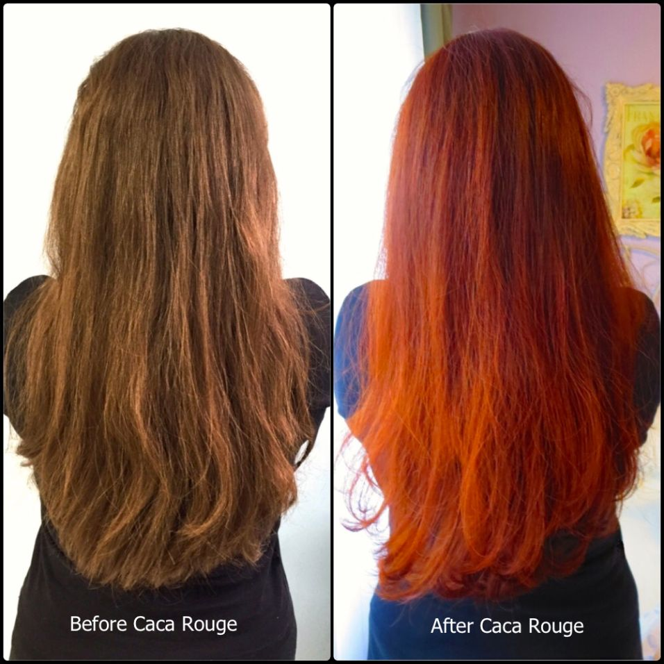 Caca Rouge Before And After Brown Recluse Henna Hair Hair Red