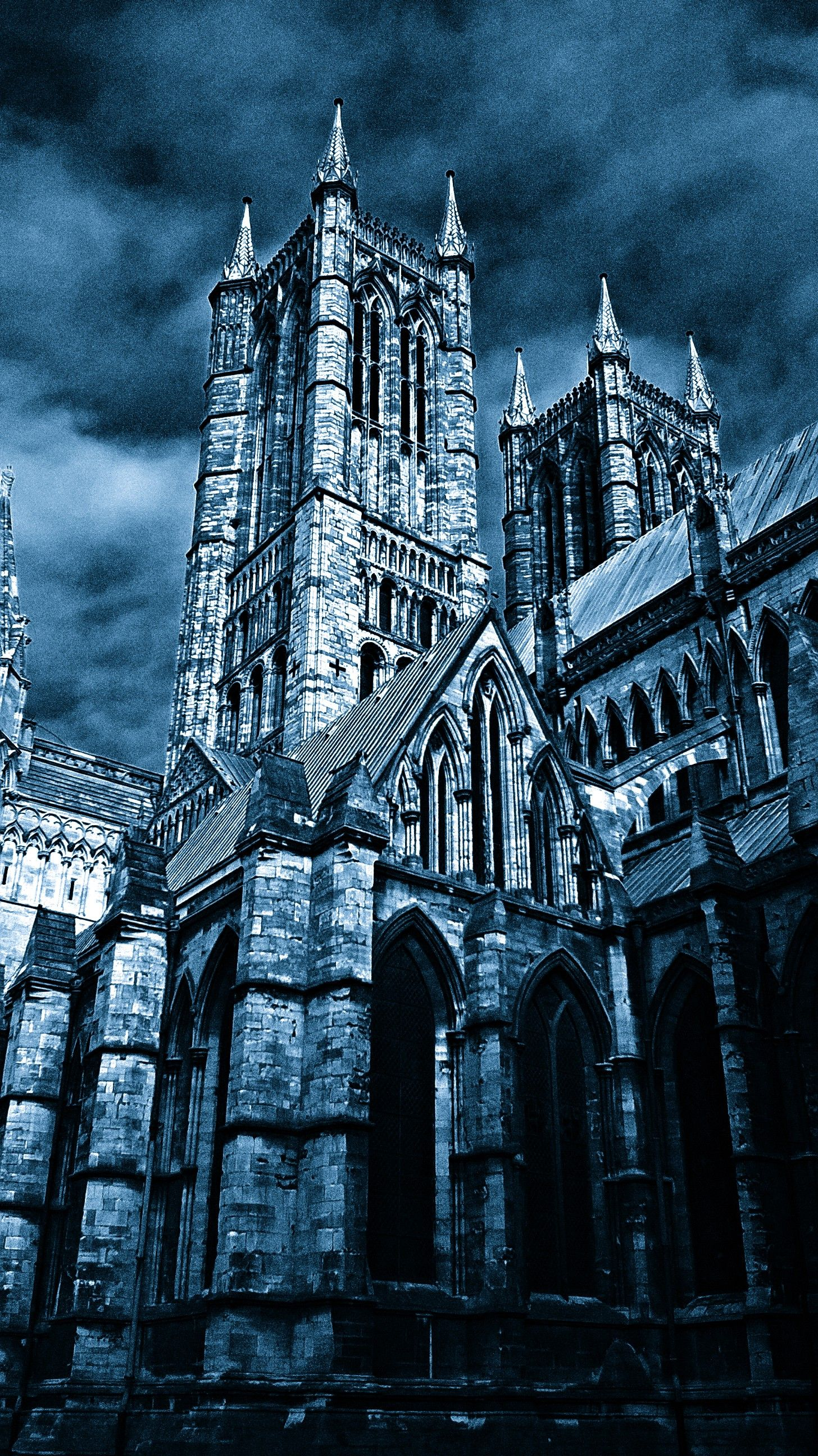 #Lincolnshire #Lincolncathedral #Edit #Gothic #Blue #Grey