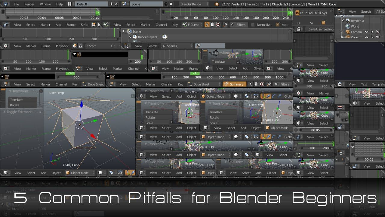 Link to the main page for this video is here httpwww 5 common pitfalls for blender beginners baditri Image collections