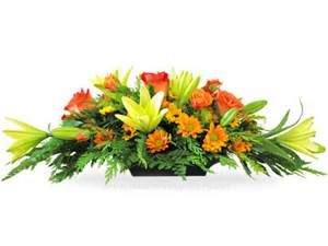 Long And Low Flower Arrangement Thanksgiving Floral Thanksgiving Flower Arrangements Fall Flower Arrangements