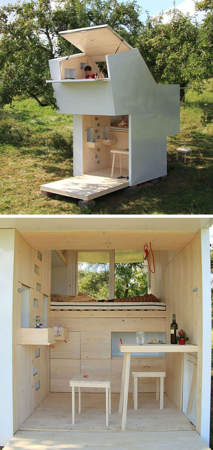 tiny houses petites maisons am nagement espace tiny homes pinterest tiny houses. Black Bedroom Furniture Sets. Home Design Ideas
