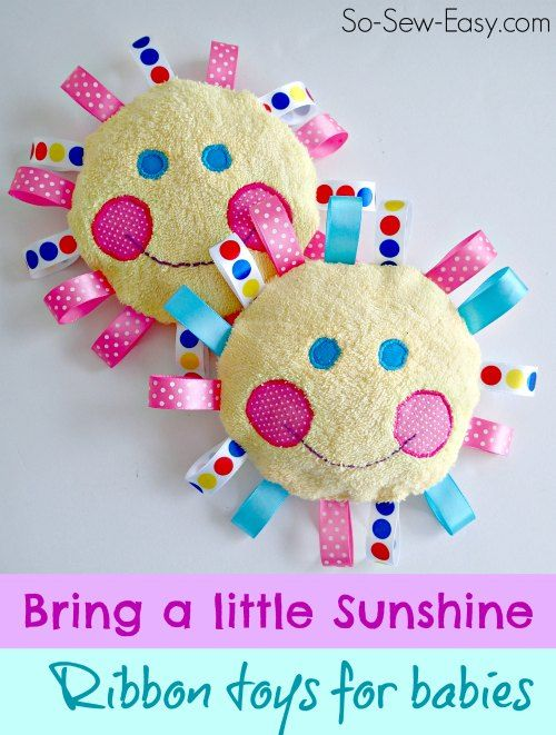 Sunshine For Babies Handmade Baby Toys Baby Sewing Baby Sewing