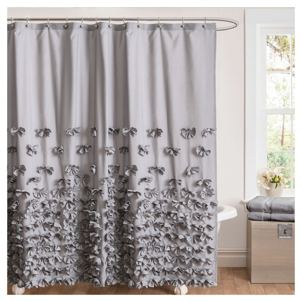 Juliet shower curtain grey