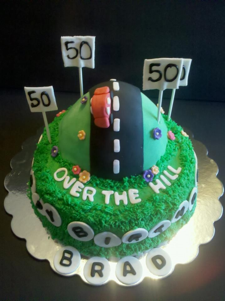 Over The Hill 50th Birthday Cake Madhouse Cakes Bloomington